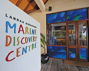 Exterior of the Marine Discovery Centre at Landaa Giraavaru