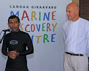 President Speaking (President Nasheed inaugurates Marine Discovery Centre)