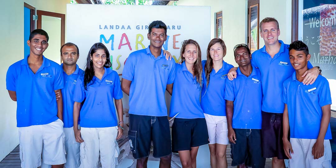 Seamarc Team of Marine Biologists, Landaa Giraavaru (December 2015)