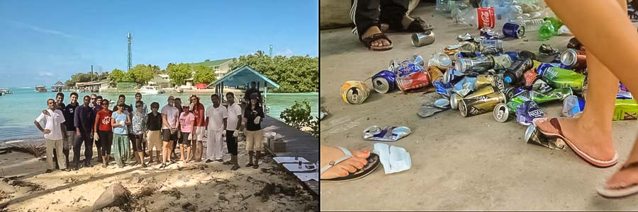 Bodu Huraa - local island cleanup