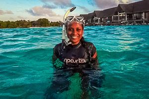 Marie Saleem - Maldivian marine biologist & environmentalist