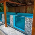 Turtle rehabilitation pools - side view