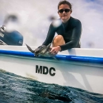 Jesse our Olive Ridley rescue turtle - on the MDC boat