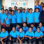 Maalhos School visit to Marine Discovery Centre - group photo
