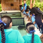 Maalhos School visit - turtle rehabilitation pools
