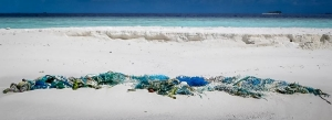 Fishing net washed ashore at Landaa Sand Bank (Reefscapers During September)