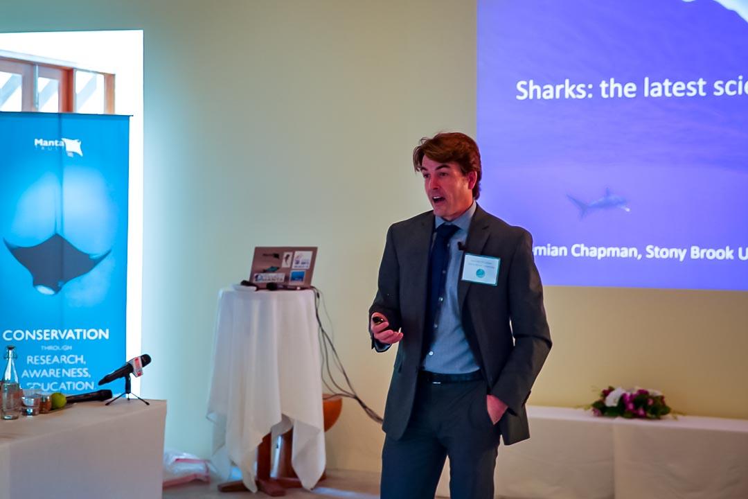 Demian Chapman (shark symposium, Maldives)