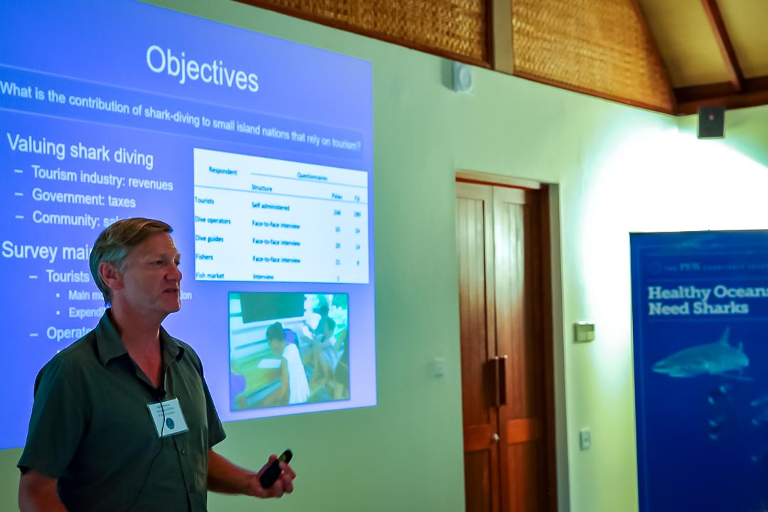 Dr Mark Meekan (shark symposium, Maldives)