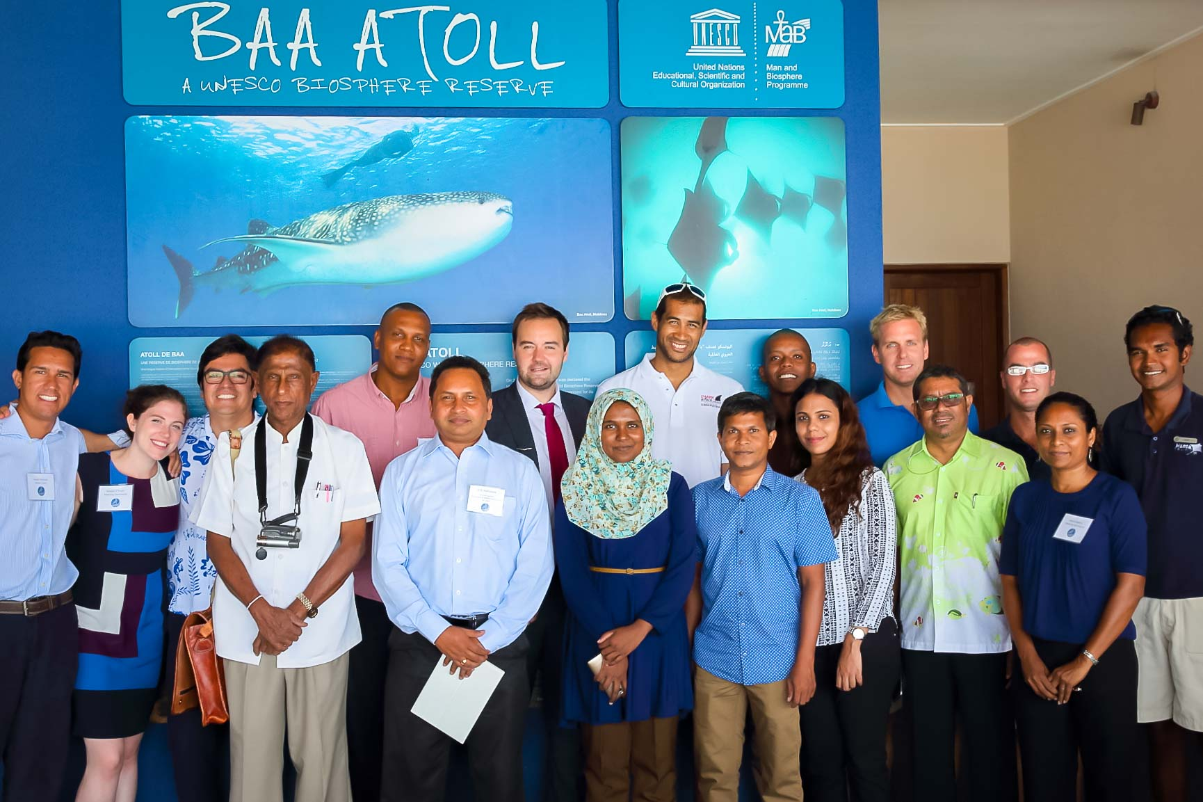 Group (shark symposium, Maldives)