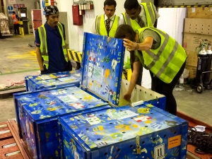 Marine Savers Maldives - Flying Turtles - Dubai cargo