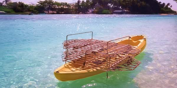 Reefscapers - transporting coral frames