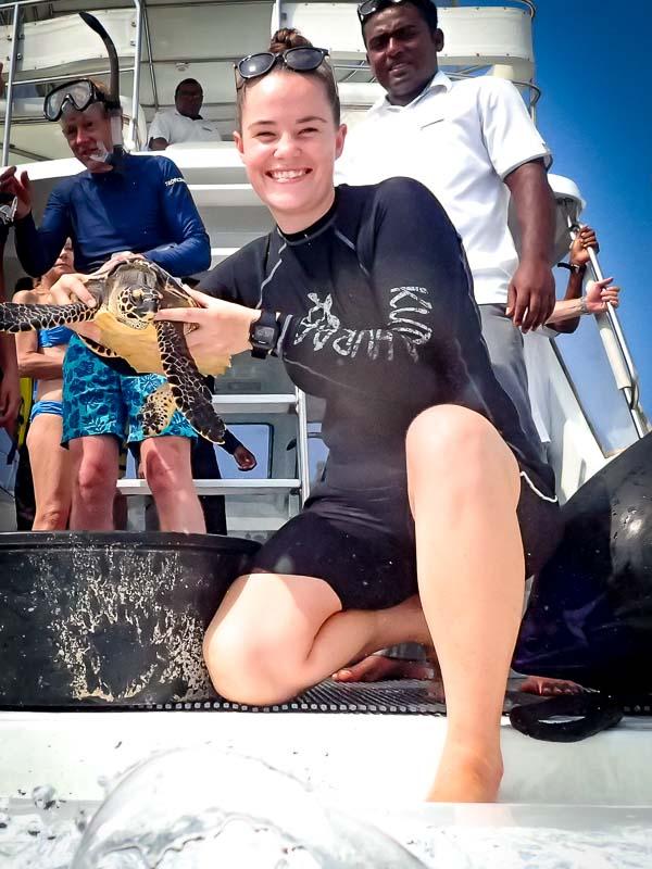 Sea turtle conservation - Marine Savers Maldives (Poppy)
