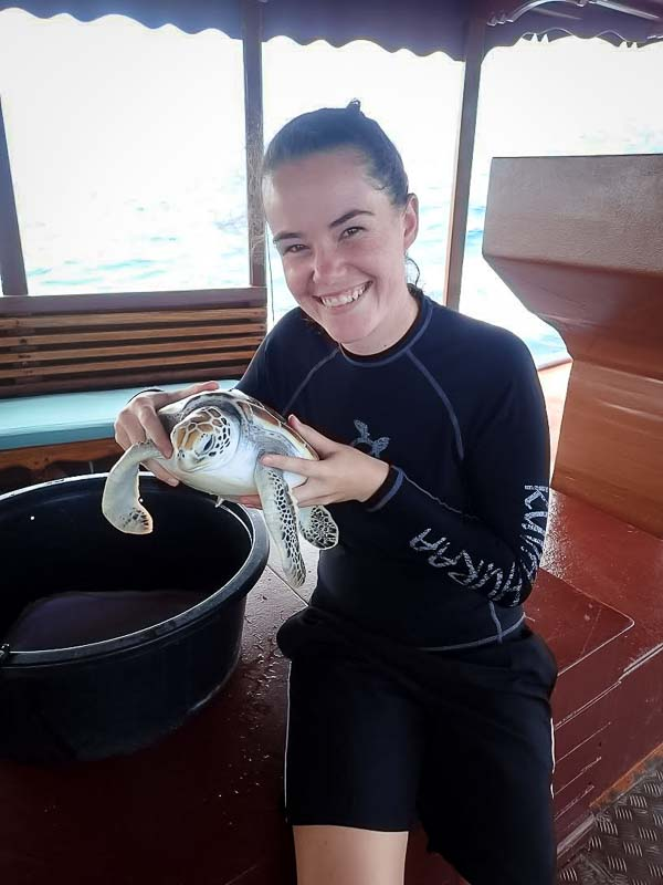 Hannah Internship - Farewelling Dash - Marine Savers Maldives