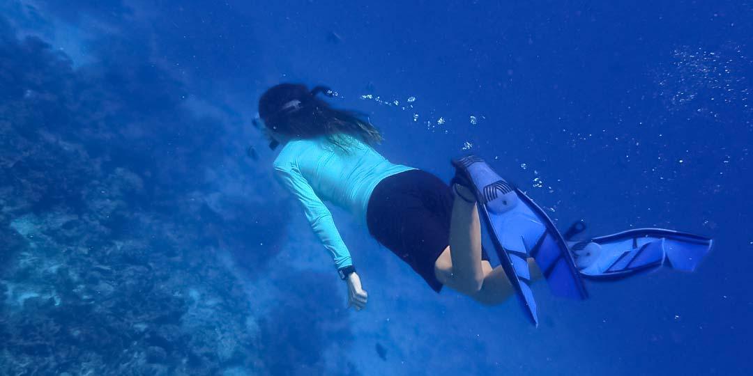 Irene's internship - snorkelling - Marine Savers Maldives