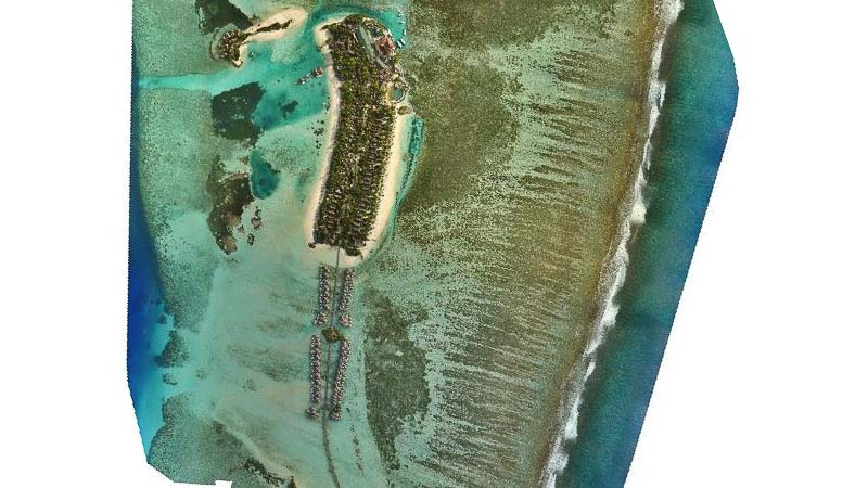 Digital drone mapping - Kuda Huraa Maldives