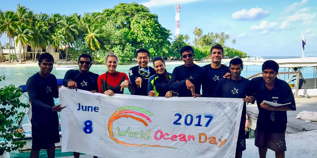Irene's Internship - Marine Savers Maldives - reef clean