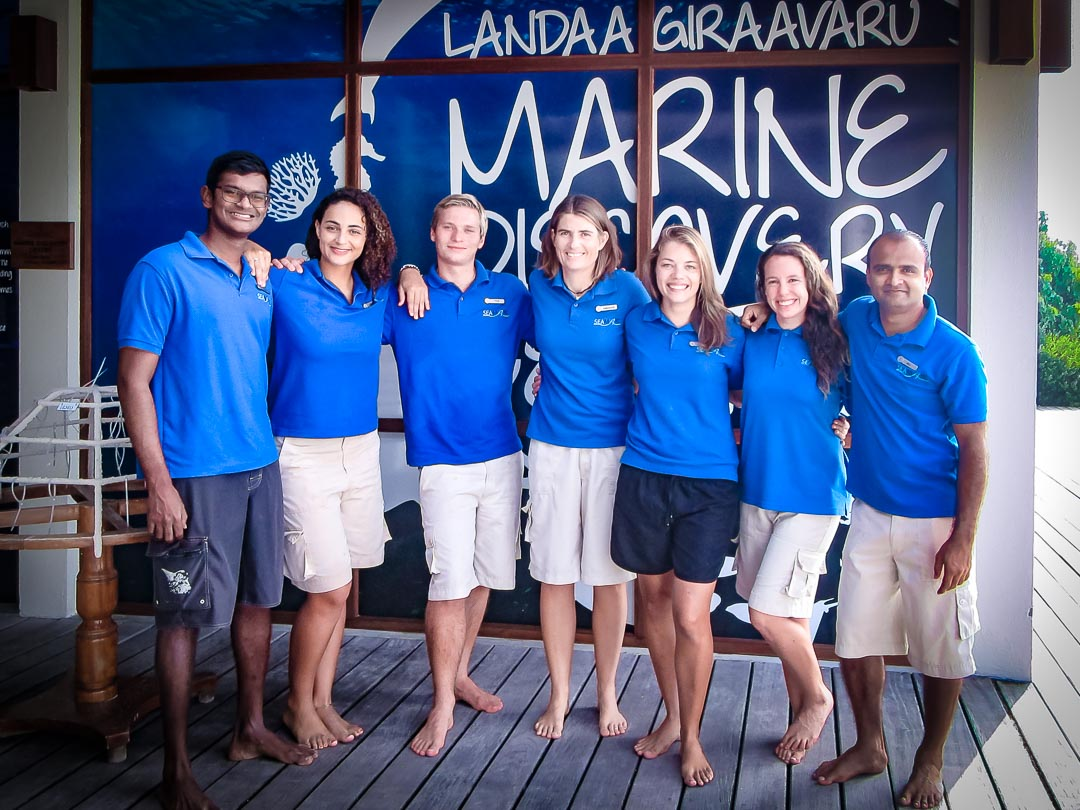 Reefscapers Team of Marine Biologists, Landaa Giraavaru (December 2017)