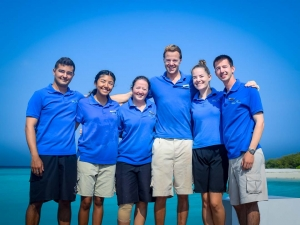 Marine Biology team at Kuda Huraa, Maldives