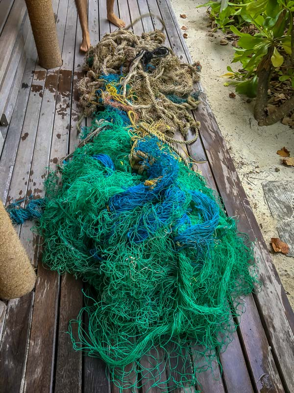 The ghost fishing net that entangled 'Mitte'
