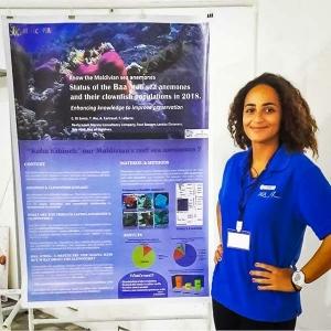 Carla at the Maldivian Marine Symposium July 2018 (Magical Manta Months!)