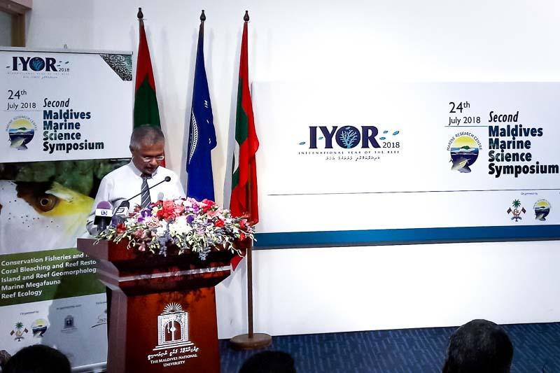 Carla at the Maldivian Marine Symposium July 2018