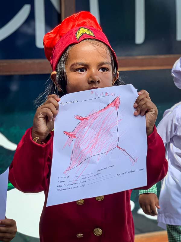 School visit to Marine Savers by Kudarikilu - manta drawings