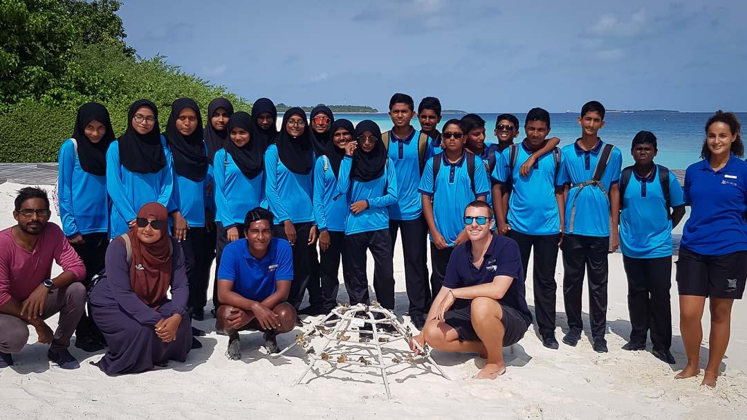 School visits to Marine Savers by Eydhafushi