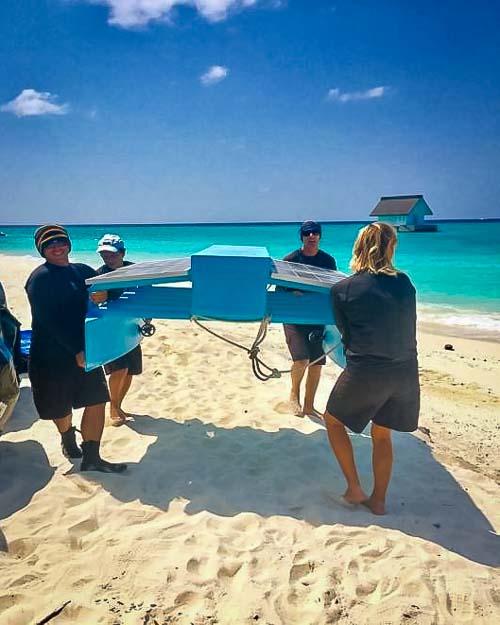 Reefscapers AI catamaran