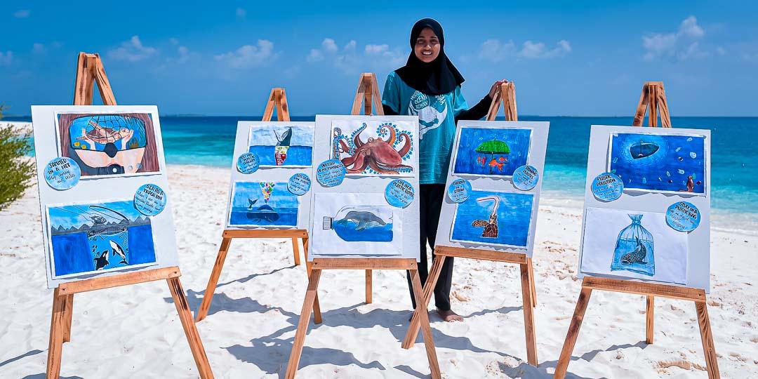Turtle Rehabilitation Maldives 10-year anniversary - Hazma's art exhibition