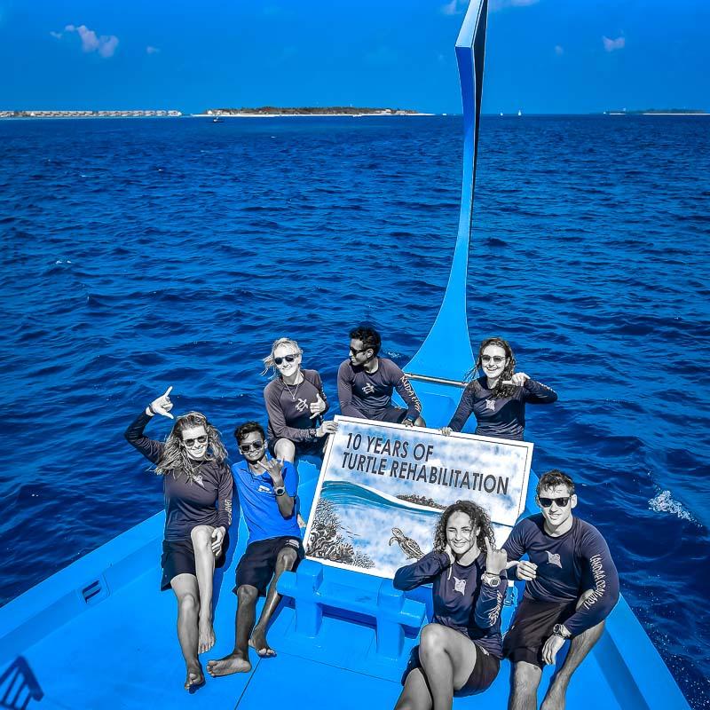 Turtle Rehabilitation Maldives 10-year anniversary