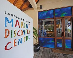 Exterior of the Marine Discovery Centre at Landaa Giraavaru