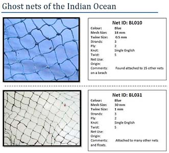 Ghost Nets - page from our ID catalogue