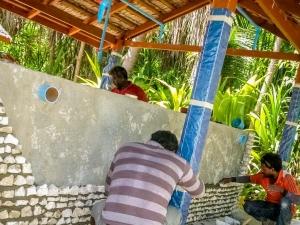 140226 – Turtle Pool Construction – walls (Maldivian Sea Turtle Conservation Programme)