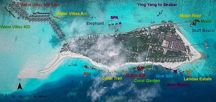 Reefscapers Coral Frames Location Map, May 2014