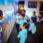 Maalhos School visit - fish lab