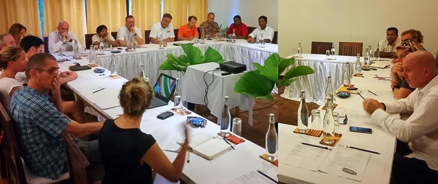 BAARU - Baa Atoll Resorts meeting (photo - Gordon Jackson)