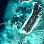 Reefscapers Kuda Huraa - Location of the 19 coral frames deployed in October 2014