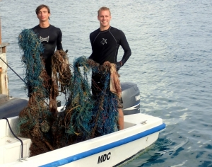 Ghost net removed from Reef (Sea Turtle Updates, Landaa Giraavaru)