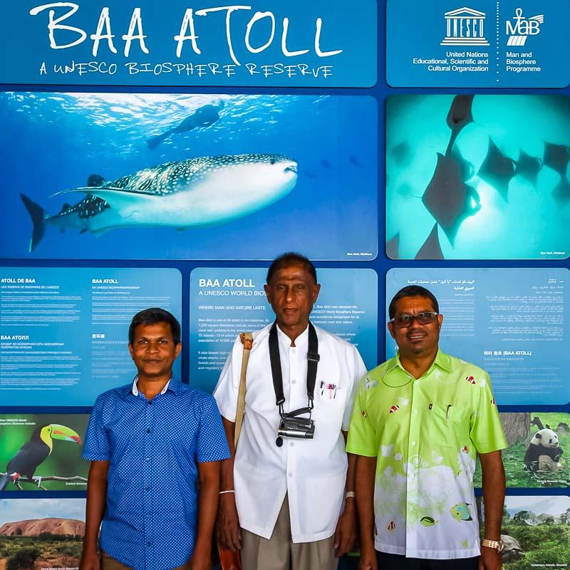 Maldivian Deputies and Srilankan Minister (shark symposium, Maldives)