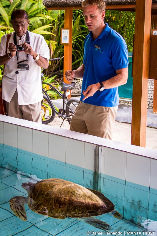 Turtle Rehab Tour - Gamini Jayawickrama Perera (shark symposium, Maldives)