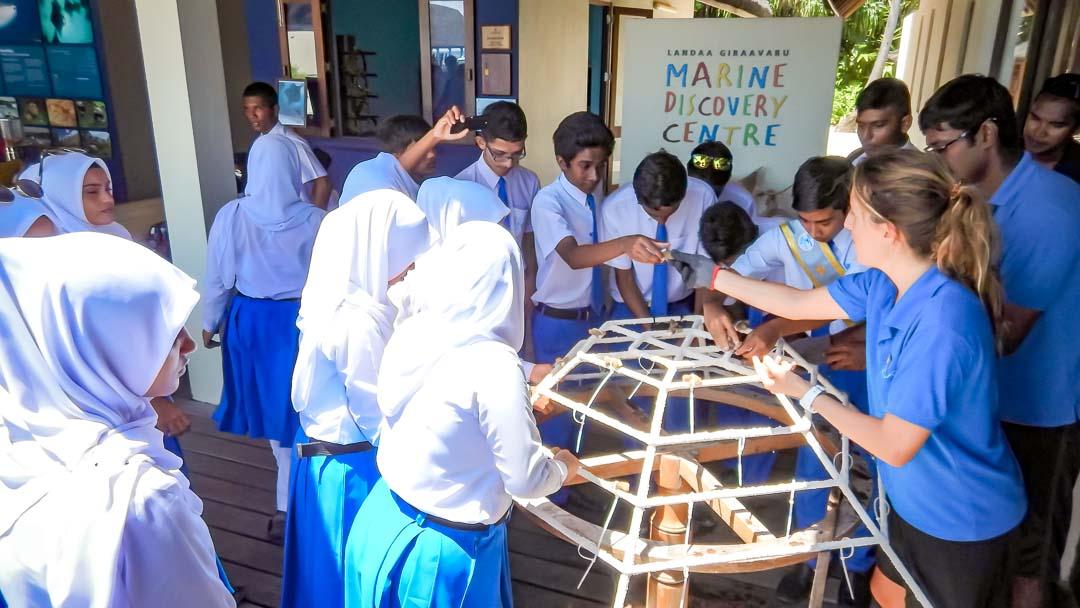 Kurendhoo School visit to Marine Savers Maldives