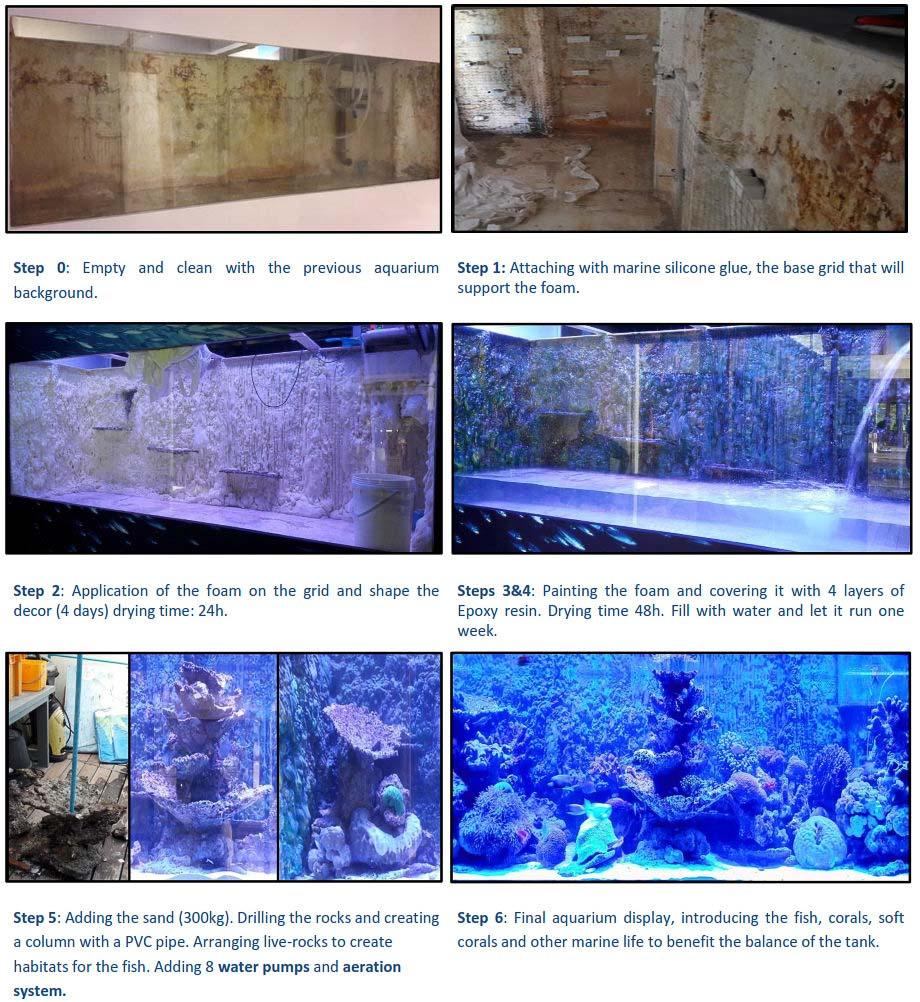 Marine aquarium renovation - Landaa Giraavaru, Maldives