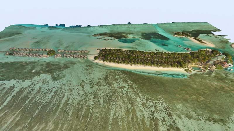 Digital drone mapping - Kuda Huraa Maldives