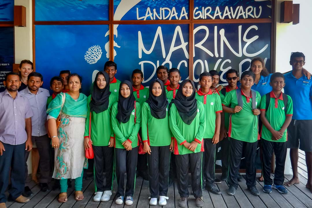 Outreach - Kendhoo school education visit - Marine Savers Maldives (2)