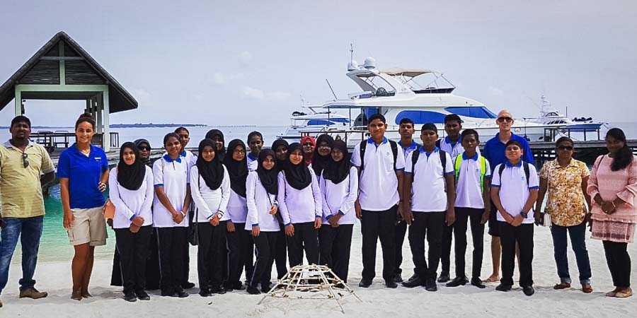 Eydhafushi School visit Marine Savers Maldives
