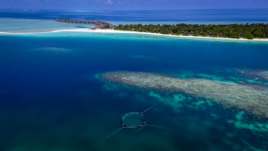 Sea turtle rehabilitation enclosure AERIAL Marine Savers Maldives [DJI_0006] 1920 (Our Sea Turtle Enclosure!)