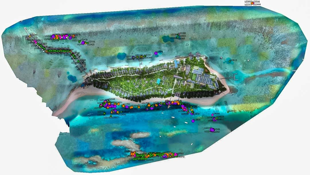 Reefscapers - GIS island mapping Maldives for corals