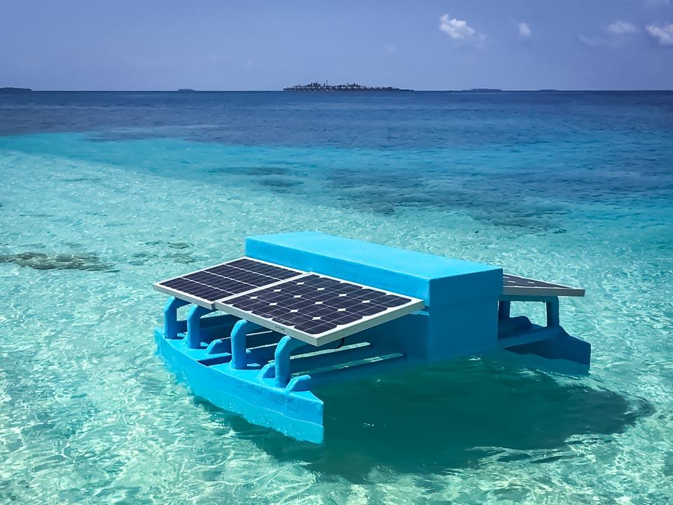 Reef monitoring catamaran AI coral identification