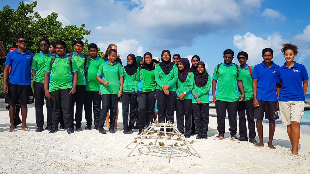 School visit to Marine Savers by Dharavandhoo
