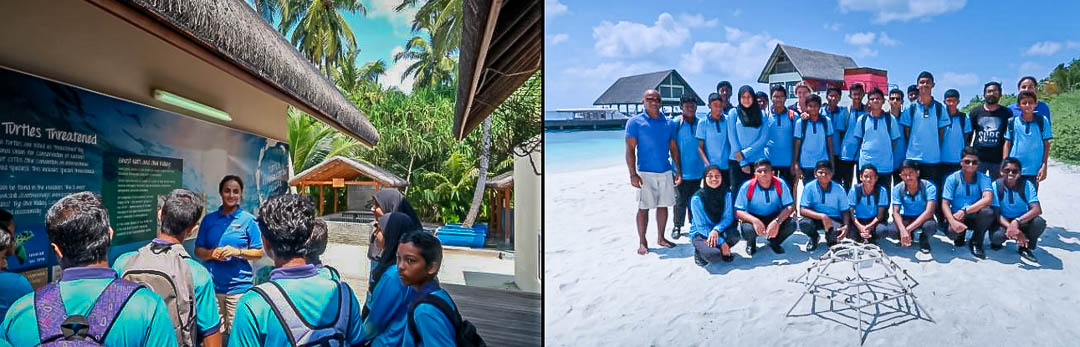 Marine Savers visit by Eydhafushi school Baa Atoll Maldives